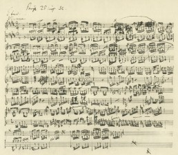 Manuscript of L. V. Beethoven.