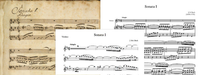 Sonate Nº.1 of J. S. Bach for violin and piano, digitalized for Copista Musical